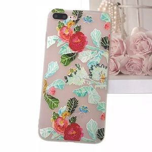 Accessories - NEW iPhone 7/8/7+/8+ Embossed Flower Soft Case